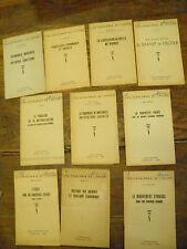 Lot de 11 fascicules de 1945 les problèmes de l'heure Action populaire Centre d'