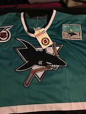 SAN JOSE SHARKS NHL JERSEY 1991 VINTAGE 75 PATCH AND VINTAGE ALL STAR PATCH -NEW