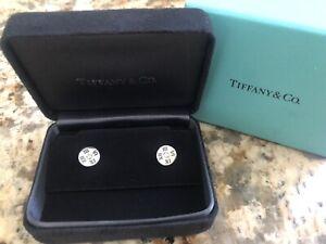 Tiffany & Co Atlas 18k White Gold Diamond Earrings