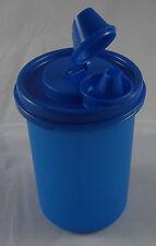 Tupperware Eidgenosse rund Essig Öl Flasche Behälter 440 ml Blau Neu OVP