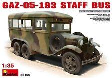 Gaz-05-193 Staff Bus Plastic Kit 1:35 Model MINIART