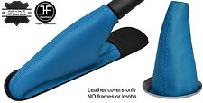 BLUE TOP GRAIN LEATHER GEAR & HANDBRAKE BOOT FOR BMW MINI COOPER R55 R56 R57