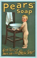 Pears Shaving Soap reproduction Advertising Poster A4 photo morning