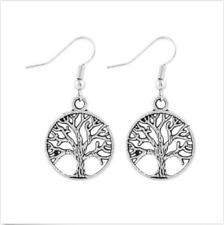 Handmade Tibet Silver Tree of life earrings
