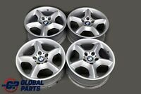 "BMW X5 E53 Silver Complete 4x Wheel Alloy Rim 17"" Star Spoke 57 7,5J ET:40"