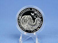 Somalia 100 Shilling 1 oz 999 Silber  2018 , Elefant *Privy  Hund* Stempelglanz