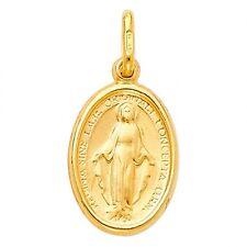 14k Gold Médaille Miraculeuse Miraculous Medal Nuestra Señora Maria Virgin Mary