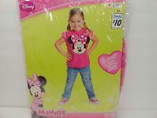 New Girls Child Disney Pink Minnie Mouse Dress Up Costume Vest Shirt Sz 2-4