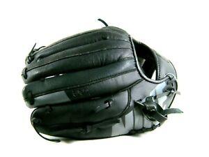 """Nike MVP Edge 11.5"""" Youth Baseball Glove Black/Grey Left Hand BF1727"""