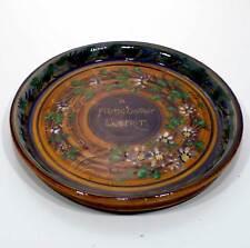 Vassoio piatto ceramica Grottaglie V.zo del Monaco anni '20 antica vintage v105