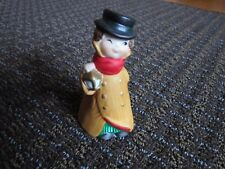 Christmas Bell Victorian Winking Gentleman with Lantern Ceramic Collectible