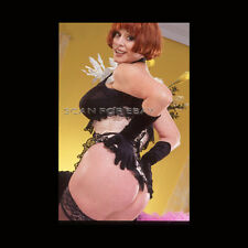 Nude 35mm Transparency Slide Busty Brunette Mature Woman Original Pinup R16 11