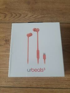 Genuine Dr Dre urBeats3 In-ear Headphones Coral . Brand New Sealed