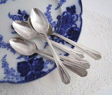 "New Listing5 Vintage 1936 Art Deco Ivanhoe Silverplate Teaspoons by Wm Rogers Mfg 6"""