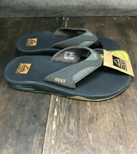 Mens REEF Fanning Flip Flops Sandals ( Size 10 ) Brown NEW Bottle Opener summer