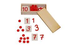 Montessori, Ziffern und Chips rot, 77-teilges Set, MS13