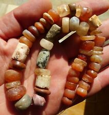 35cm Perles Ancien Afrique Ancient Mali African Neolithic Agate Carnelian Beads