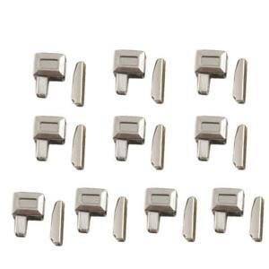 10 PCS Zipper Accessories Metal Zipper Bolt Repair Stopper Sewing Tailor