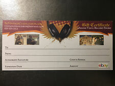 Vinyl Record Gift Certificate Card $25 Music Who Rolling Stones Led Zeppelin Yes
