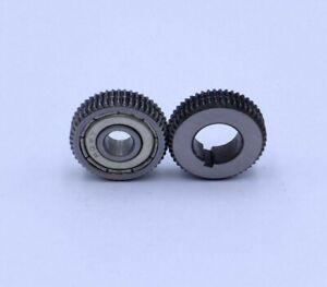 Serrated Roller Steel Wire Reel Gun Push Pull Feeder Welding Torch 2pc 0.8-1.0mm