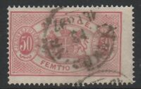 Sweden - 1881, 50 ore Pink Official stamp - Perf 13 - Used - SG O39a