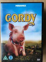 GORDY ~ 1995 Walt Disney / Pig / Family Film / Comedy UK DVD