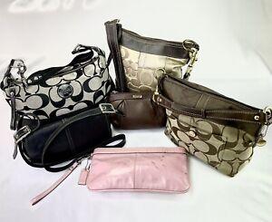Coach Hobo Satchel Wristlet Crossbody Handbags- Lot of 6 *Parts Or Repurpose*