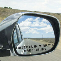 100*15mm OBJECTS IN MIRROR ARE LOSING Vinyl Decal Rearview Reflective Sticker