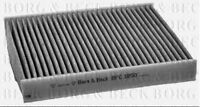 BFC1050 BORG & BECK CABIN AIR FILTER fits Ford Fiesta V,Fusion 03/02-