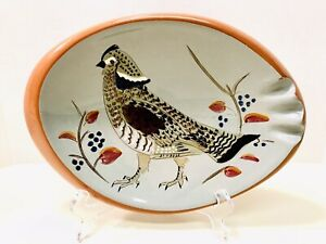 Vintage 1970's Stangl Pottery Hand Painted Ruffed Grouse Large Ashtray 3926