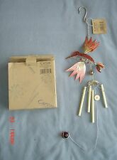 New listing 3D Hummingbird Windchime by Carson - Enamel Wire Movable Crystals - 62263