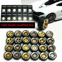 1/64 Scale Alloy Wheels - Custom Hot Wheels, Matchbox,Tomy, Rubber Tires 10 LZ
