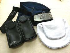 4pcs/set Face Mask&Headband&weapon bag COSPLAY for Anime NARUTO Hatake Kakashi