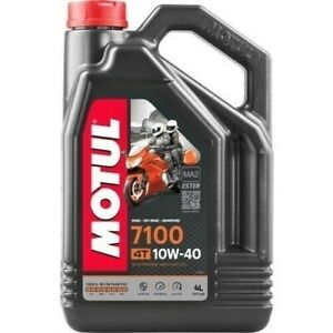 104092 Motul 7100 4T 100% Synthetic Ester Motorcycle Engine Oil 10W40 4 Liter