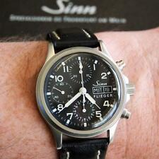 SINN 356 Flieger Day/Date Chronograph Pilots Watch Automatic Valjoux 7750