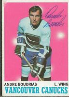 Andre Boudrias 1970 Topps Autograph #121 Canucks