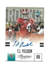 2015 Prestige Rookie Autograph Blue T.J. Yeldon Jacksonville Jaguars Alabama AU