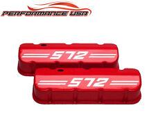 Big Block Chevy 572 Die Cast Aluminum Orange Valve Covers