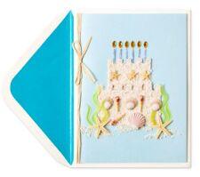 PAPYRUS Sandcastle Cake Birthday Card Retail $9.95