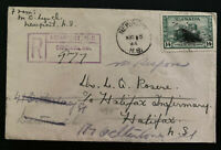 1944 Newport Canada registered Cover To Halifax