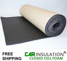 5m x 1m 10mm Closed Cell Foam Adhesive Camper Van Boat Noise CCF Car Insulation