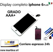 DISPLAY completo x IPHONE 6 PLUS bianco High Quality LCD + TOUCH SCREEN + FRAME