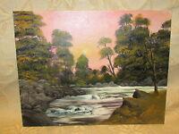 Vintage Original Oil Painting On Canvas / Board ' Landscape '