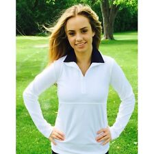 NWT Smashing Golf & Tennis Lucy Long Sleeve Ruched Pull Over White S 4 6