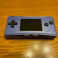Nintendo Game Boy Micro Blue Game console Working Only Body Japan USED FedEx