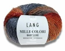 15€/100g  MILLE COLORI BABY LUXE 50g Lang Yarns Lichtpunkte wie Sterne