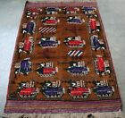 AFGHAN CLASSIC HAND MADE WAR RUG SHOWING TANKS, HELICOPTERS, JETS
