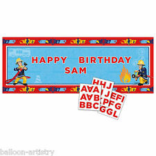 1.2m FIREMAN SAM Fun Children's Birthday Party Personalisable Banner Decoration