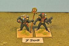imperial guard cadian commander & standard bearer metal  (9500)