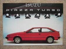 Isuzu Piazza Turbo brochure c.1985
